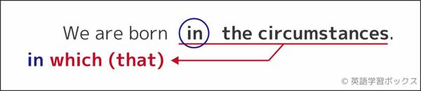 「前置詞+関係代名詞」という語順になる
